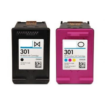 HP 301XL Black and Colour Refurbished Ink Twinpack